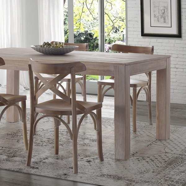 Shop Grain Wood Furniture Montauk Dining Table Solid Wood Free - Solid hardwood kitchen table