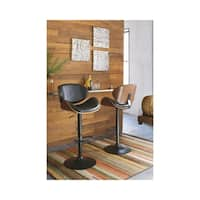 Strick & Bolton Adjustable Height Matte Black Bar Stool - N/A