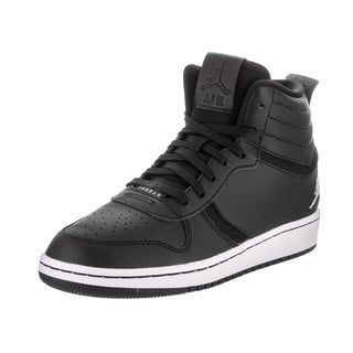 Jordan Kids Jordan Heritage Bg Black Leather Basketball Shoes