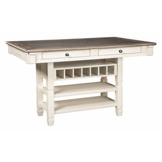 Signature Design by Ashley Bolanburg Two-tone Rectangular Dining Room Counter Table