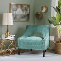 Shop Whitney Mushroom Velvet Accent Chair Free Shipping