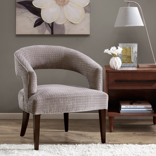 Shop Madison Park Tera Grey Accent Chair Free Shipping