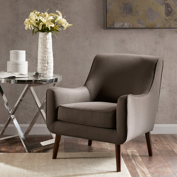 Shop Madison Park Liam Grey Mid Century Accent Chair On