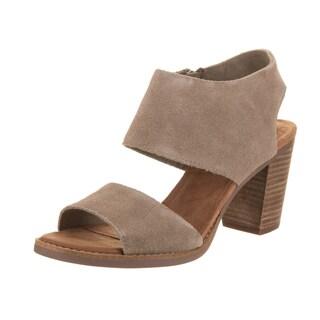 Toms Women's Majorca Brown Suede Cutout Sandal