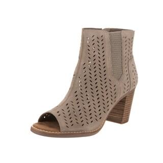 Toms Women's Majorca Peep Toe Brown Suede Casual Shoes