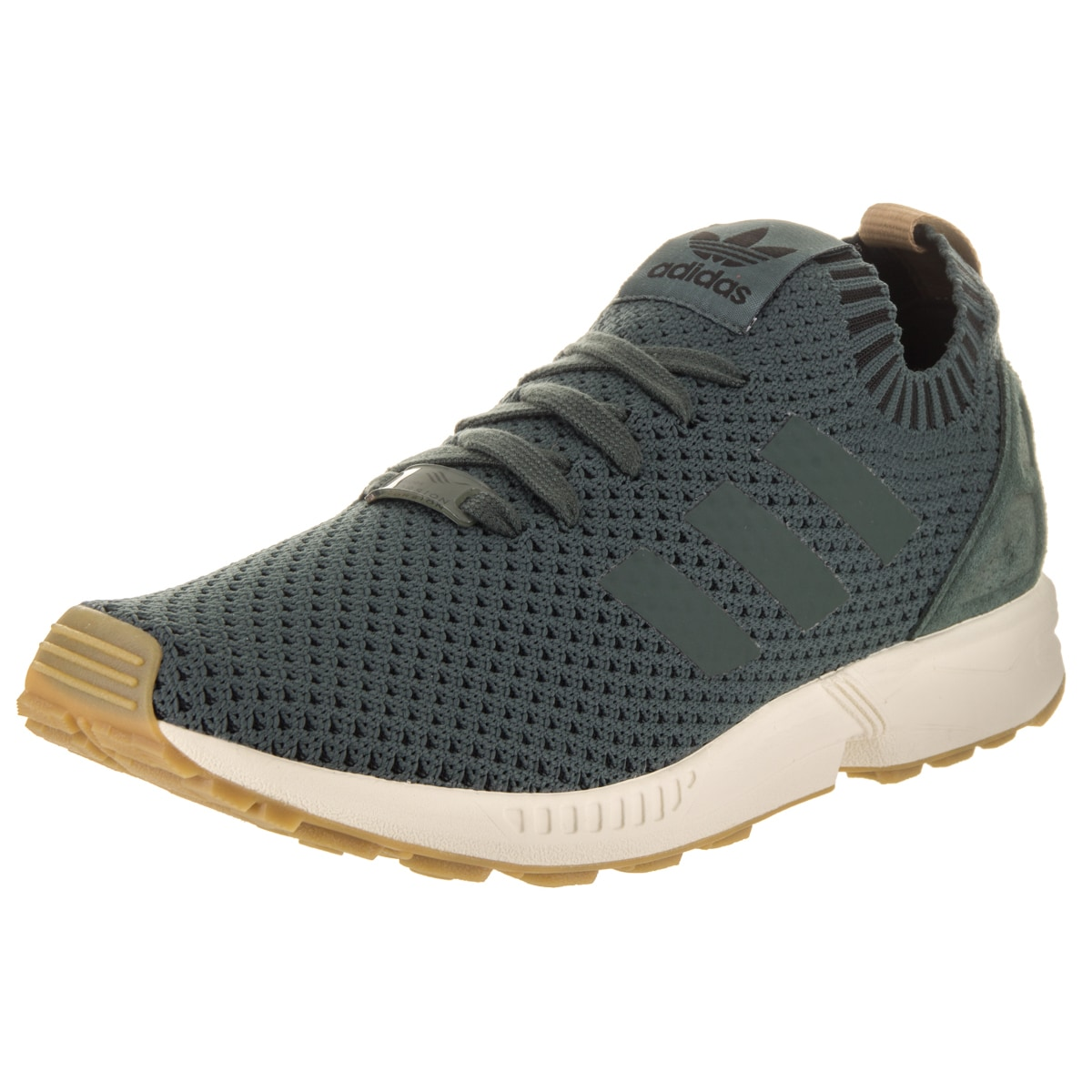 Adidas Men's ZX Flux Pk Originals Green Textile Casual Shoes