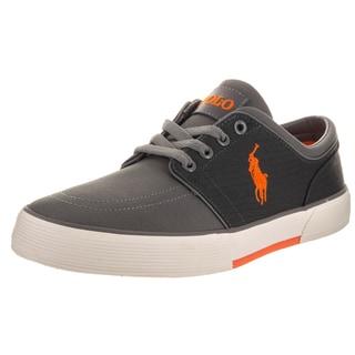 Polo Ralph Lauren Men's Faxon Low Sk Vlc Grey Canvas Casual Shoes