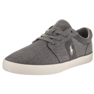 Polo Ralph Lauren Men's Halmore II Sk Vlc Grey Canvas Casual Shoes