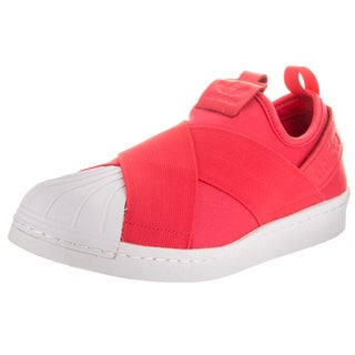 Adidas Women's Superstar Slip On W Originals Pink Leather Casual Shoes