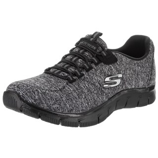 Skechers Women's Empire - Invitation Only Black Fabric Wide Casual Shoe