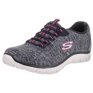 Skechers Women's Empire - Invitation Only Blue Fabric Wide Casual Shoes