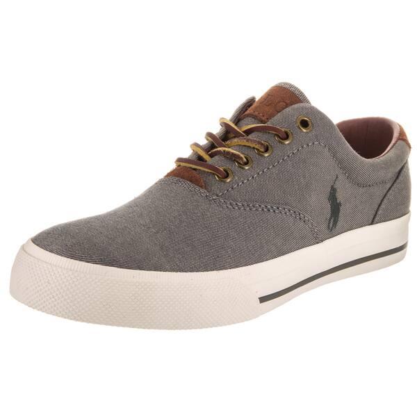 dd2553653 Shop Polo Ralph Lauren Men s Vaughn Sk Vlc Grey Canvas Casual Shoes ...