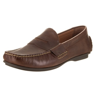 Polo Ralph Lauren Men's Abner Light Tan Leather and Textile Loafers