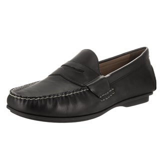Polo Ralph Lauren Men's Abner Black Leather Loafers Slip-on Shoes