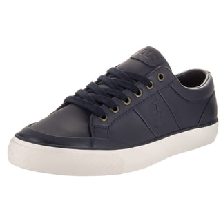 Polo Ralph Lauren Men's Ian Sk Vlc Blue Leather Casual Shoes