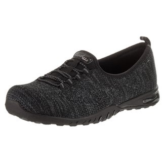 Skechers Women's Easy Air 'In My Dreams' Black Synthetic-leather Casual Shoes