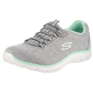 Skechers Women's Empire Invitation Only Grey Fabric Wide Casual Shoe