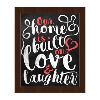 'Our Home Is Built on Love' Framed Canvas Wall Art