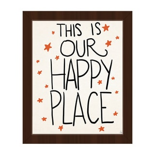 'This is Our Happy Place' Framed Canvas Wall Art