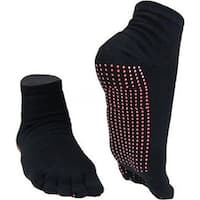 Two Elephants Black Nylon and Spandex Slide-free Yoga Socks (Pack of 3)