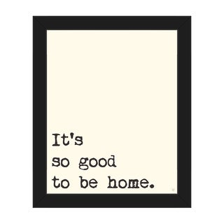 'So Good to Be Home' Framed Canvas Wall Art Print