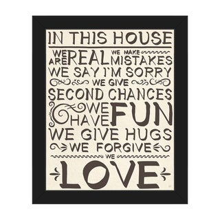 'In This House We Are Real' Framed Canvas Wall Art