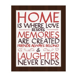 Home is Where Love Resides Framed Canvas Wall Art