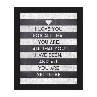 'I Love All That You Are' Framed Canvas Wall Art