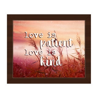 'Love is Patient, Kind' Framed Canvas Wall Art Print