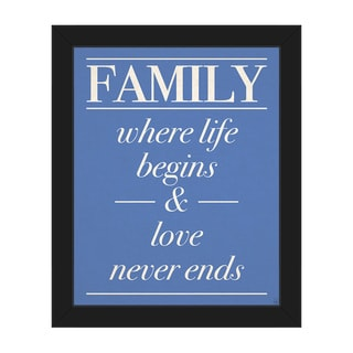 Inspirational Family Quote Framed Canvas Wall Art