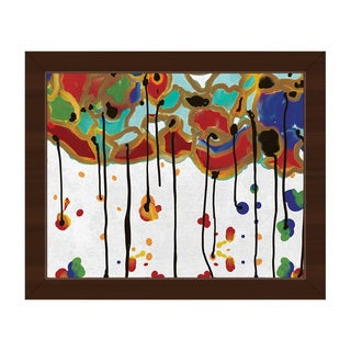 Melting Colorful Trees Framed Canvas Wall Art
