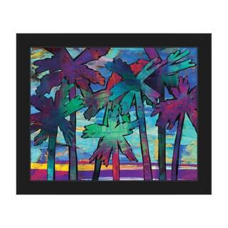 Psycho Palms Alpha Framed Canvas Wall Art Print