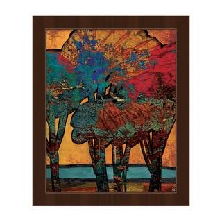 'Time Trees Alpha' Framed Canvas Wall Art Print