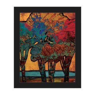 'Time Trees Alpha' Canvas Framed Wall Art Print