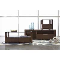 Hudson Contemporary Cocktail Table w/ Glass Top