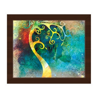 Citrine Curved Trunk Framed Canvas Wall Art Print