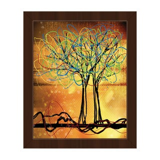 'Scribbled Trees' Framed Canvas Wall Art Print
