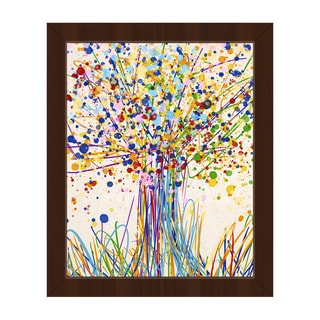 Splatter Tree I Framed Canvas Wall Art Print