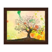 'Chartreuse Willow' Framed Canvas Wall Art Print