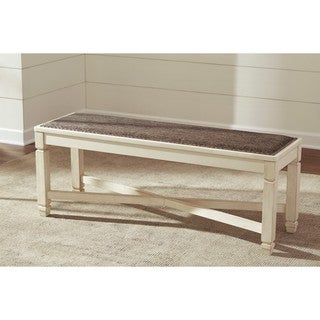 Signature Design by Ashley Bolanburg Two-tone Large Upholstered Dining Room Bench