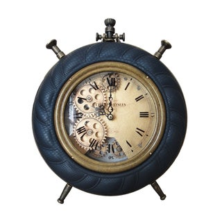 Vintage-style Blue Table Clock