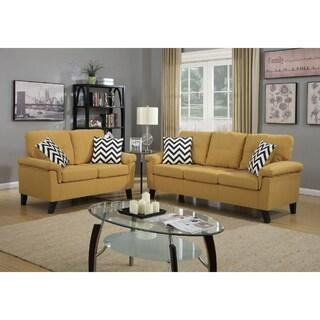 Chateau 2-PCs Sofa Set (Option: Yellow)