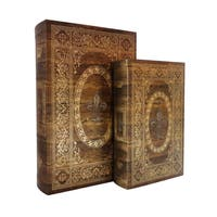 Storage Book Box (Set of 2)