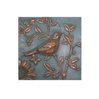 'Gold Finch and Flowers' Wall Plaque