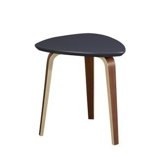 Tisdale Contemporary Modern Small Ebony End Table