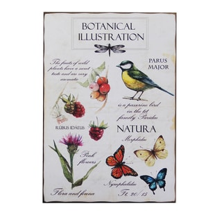 'Botanical Illustration' Wall Plaque