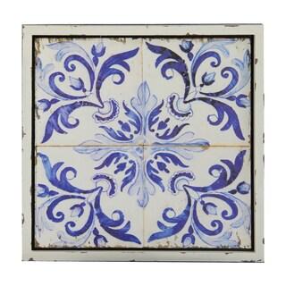 'Vintage Blue Tiles' Wall Plaque