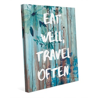 Eat Well, Travel Often Canvas Wall Art Print