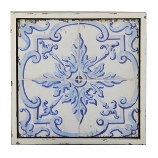 'Vintage Blue Tile' Wall Plaque
