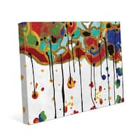 Melting Colorful Trees Canvas Wall Art Print